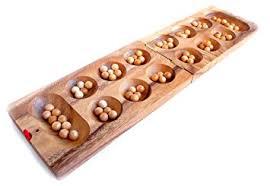 Mancala Wooden Board Game Logica Puzzles art KALAHA MANCALA Folding Teak wood board 47