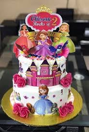 Two Tier 10 8 Kids Cartoon Character Cake Food500com