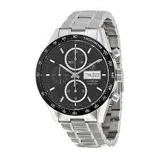 tag heuer carrera calibre 1887 automatic chronograph grey dial tag heuer carrera automatic chronograph black dial stainless steel mens watch cv201agba0725