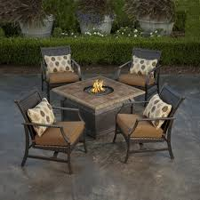 fire pit table with chairs. Patio Table With Firepit And Chairs Fire Pit