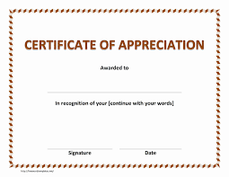 Certificate Of Appreciation Template For Publisher