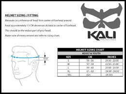 Kali Knee Pads Size Chart Kali Protectives Durgana
