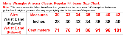 Details About Wrangler Mens Jeans Arizona Classic Regular Fit Trousers Pants All Waist Sizes