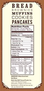 nutritional information ings whole wheat flour