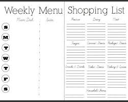 Free Weekly Meal Planner With Grocery List Weekly Dinner Planner With Grocery List Under Fontanacountryinn Com