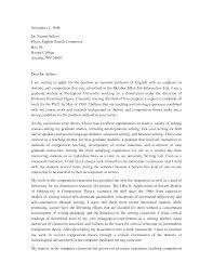 Academic Cover Letter Format Professional Sample Cover Letter For