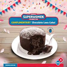 domino s pizza free chocolate lava cake mar promotion