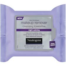 neutrogena makeup remover cleansing towelettes night calming 25 pk