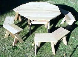 octagon picnic table kits octagon picnic table kit my ideas free large round picnic table plans