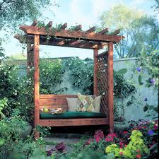Small Picture Garden Arbor Bench Garden arbours Arbors and Yards