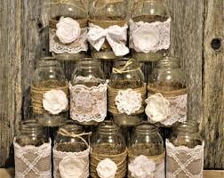 Decorated Jars For Weddings Mason jar wedding Etsy 38
