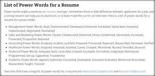 Cmi Blog Power Words For A Resume Jobfrog Blog