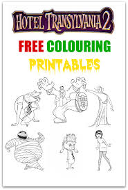hotel transylvania 2 colouring page printables