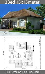 Neat House Designs Home Design Plan 13x15m With 3 Bedrooms Neat House Plans