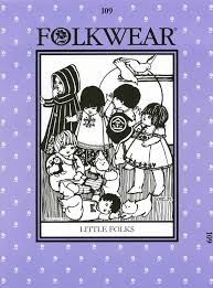 Folkwear Patterns New Folkwear 448 Little Folks 48 International Patterns Folk Baby