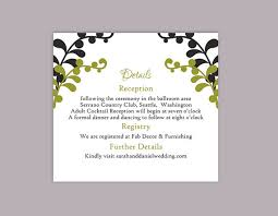 Wedding Enclosure Card Template Diy Wedding Details Card Template Editable Text Word File Download