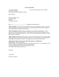 Outline For A Cover Letter The Letter Sample