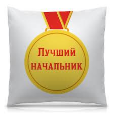 """Подушка 40х40 с полной запечаткой Медаль """"Лучшему ..."""