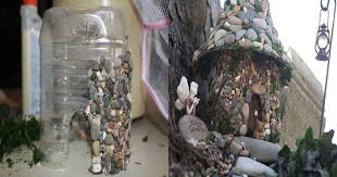 how to make a fairy house with plastic bottles and