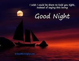 whatsapp good night e for