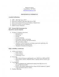 Sql Server Dba Sample Resumes 11 Oracle For Freshers Resume
