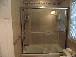 image of frameless shower door home depot
