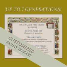 7 Generation Pedigree Chart 7 Generation Pedigree Chart Customized Artwork With Images Related To Your Ancestry