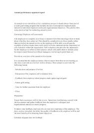 Job Self Evaluation Sample Employee Form Comments Performance ...