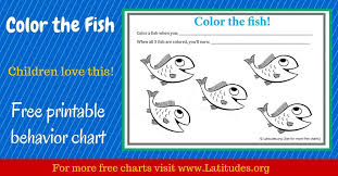 Color Behavior Chart Printable Free Behavior Chart Color The Fish Acn Latitudes
