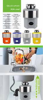 China Food Waste Sink Garbage Kitchen Disposers India 1 Hp Kitchen Sink Food Waste Disposer