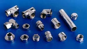 Brass Pipe Sanitary Plumbing Fittings Brass Bronze Gun Plugs Elbows Crosses  tees in different sizes and