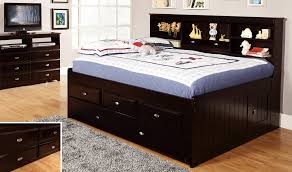 Discovery World Furniture Espresso Full Size Bookcase Day Bed ...