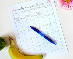 monthly meal planner template printable meal planning templates to simplify your life