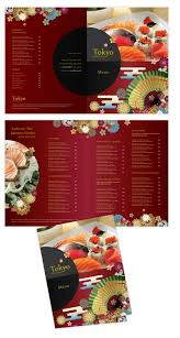 To Go Menu Templates Japanese Sushi Restaurant Bi Fold To Go Menu Template Menu Menu