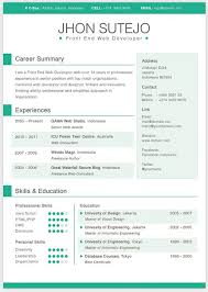 single page curriculum vitae template in 5 basic colorsits created in photoshop and easy colorful resume template free download
