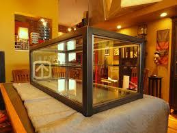 custom made display case glass steel display case