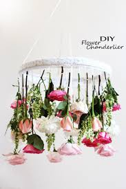 diy flower chandelier easy shabby chic room apartment