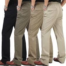 Spring <b>summer thin elastic</b> waist brand men casual pants High waist ...