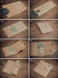 Making A Cd Case How To Make A Folded Paper Cd Case Useful Things Cd Diy Diy Cd