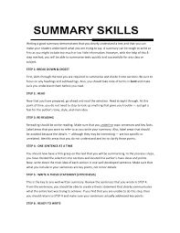 Skill Summary In Resume Zromtk Beauteous Qualification Summary Resume