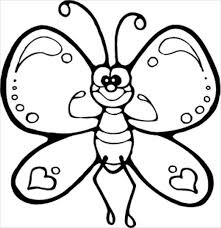Cartoon Butterfly Coloring Page 9 butterfly coloring pages free & premium templates on what page template is applied wordpress