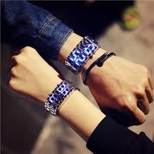 korean style men women <b>digital</b> wristwatches <b>creative LED</b> light ...