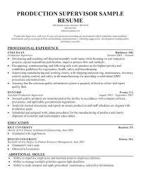 Mechanical Supervisor Resume Sample Construction Superintendent