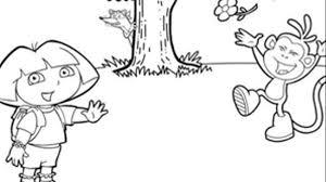 Disegni Da Colorare Inglese Da Imparare Disegna Con Dora L