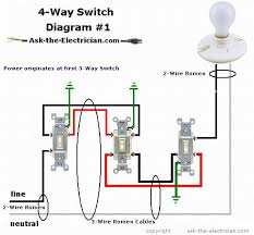 how to wire a 4 way switch Four Way Switch Wiring Diagram