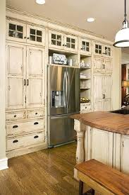 rustic white kitchen cabinets inspiring distressed kitchen cabinets with wooden chair distressed antique white kitchen cabinets