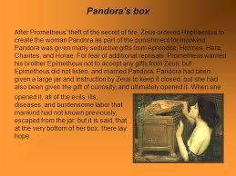 greek mythology pandora s box hephaestus revenge orpheus and  3 after