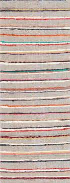 vintage rugs swedish rag rug runner striped with gray field nazmiyal via atticmag