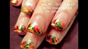 Thanksgiving Nails | Fall No Water Drag Marble Nail Art Design ...