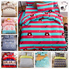 red blue stripe quilt duvet cover 3 4 pcs jpg